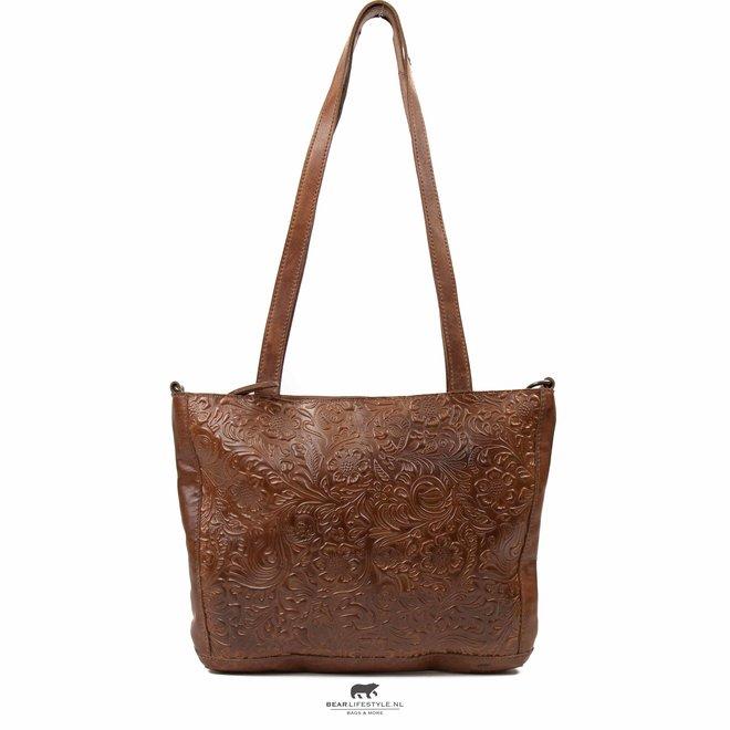Shopper 'Flora' Cognac CP 2029