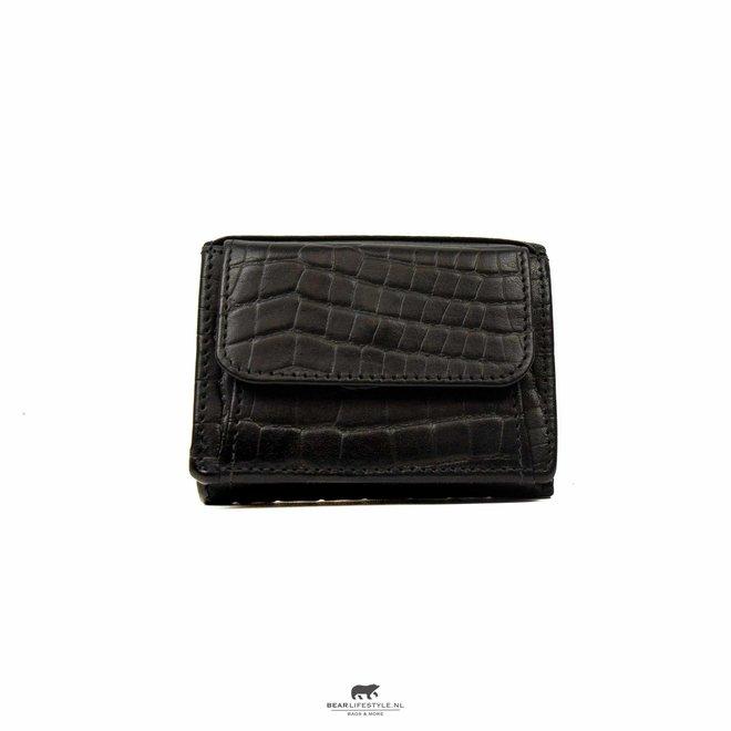 Mini portemonnee Croco Zwart BBC 4102