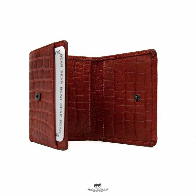 Mini portemonnee Croco Rood BBC 4102