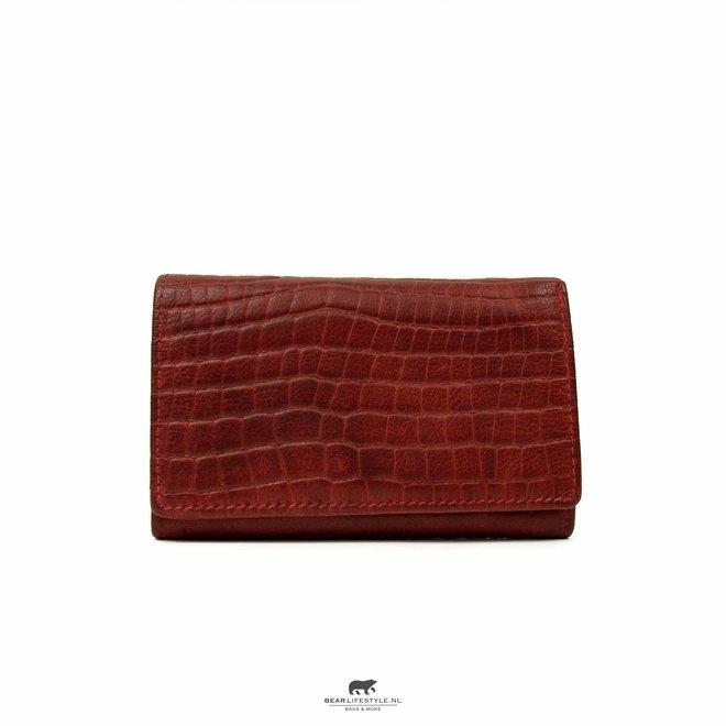 Kleine dames portemonnee - BBC 5066 Croco Rood