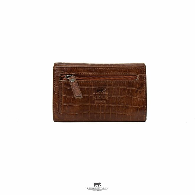 Kleine dames portemonnee - BBC 5066 Croco Cognac