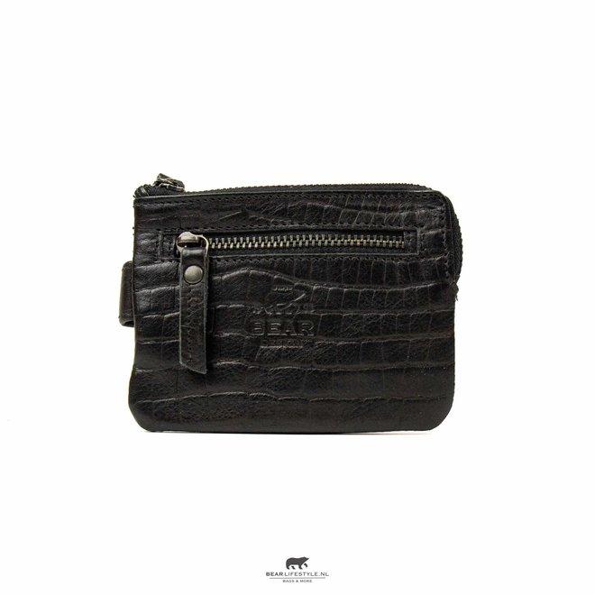 Portemonnee/Sleuteletui - CP4110 Zwart Croco 'Carrie'