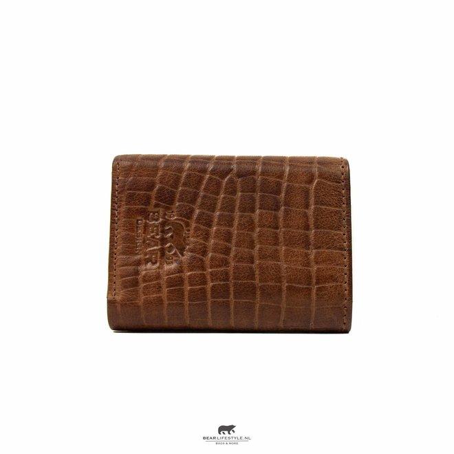 Mini portemonnee Croco Cognac BBC 4102