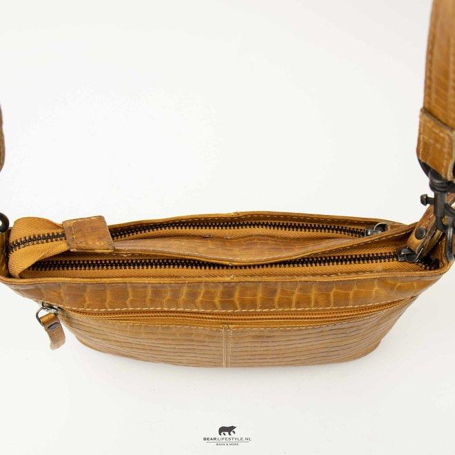 Hand/Schoudertas 'Ashley' - CP 1867 Geel Croco