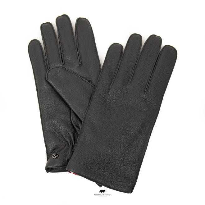 Heren handschoenen 'Fynn' zwart leder