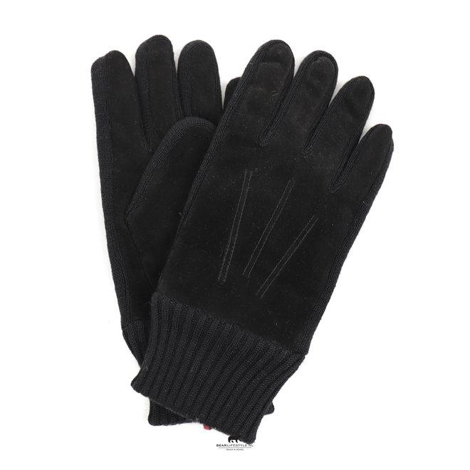 Herrenhandschuh 'Stan' Zwart Leder