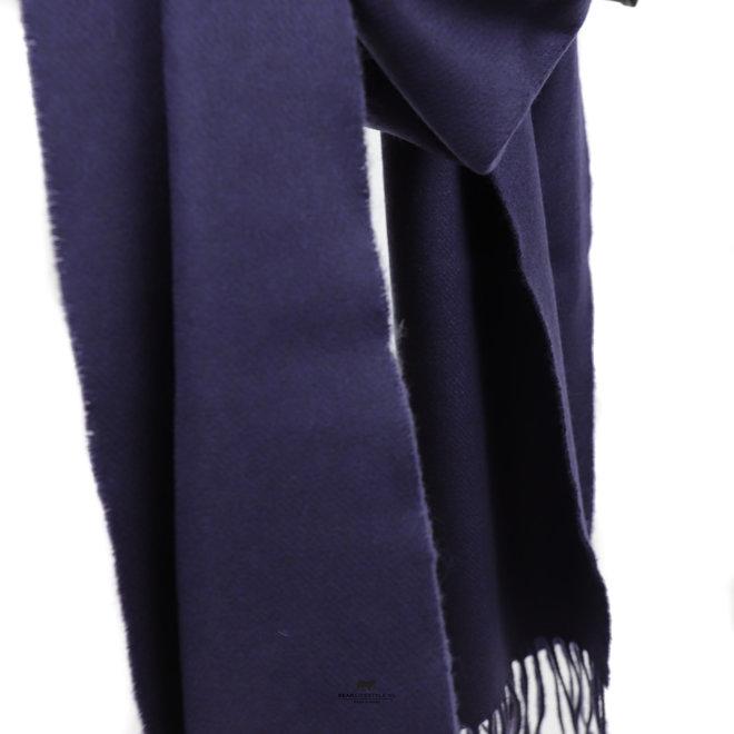 Sjaal Merino 30 x 180 cm Donkerblauw