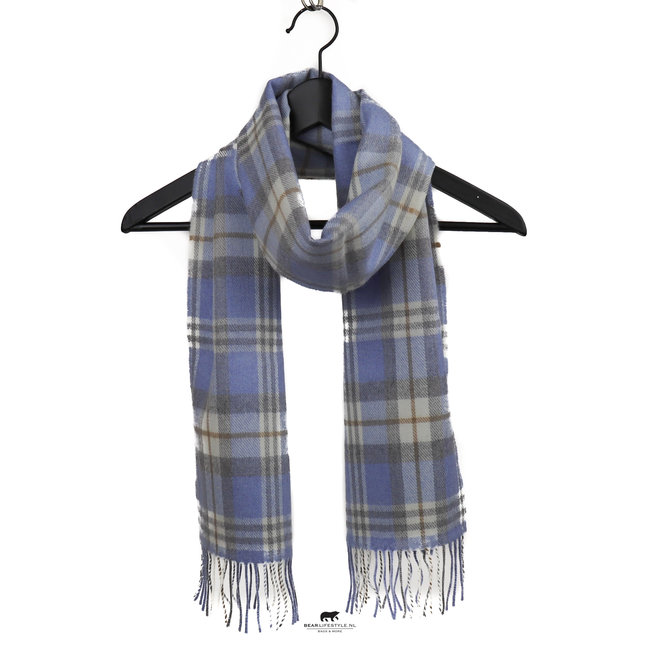 Sjaal Merino 30 x 180 cm Lichtblauw