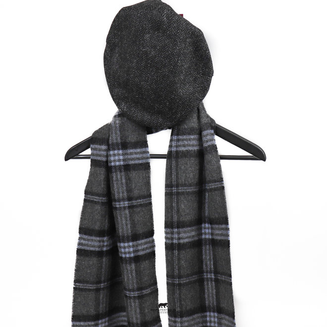 Flatcap Zwart/grijs maat L