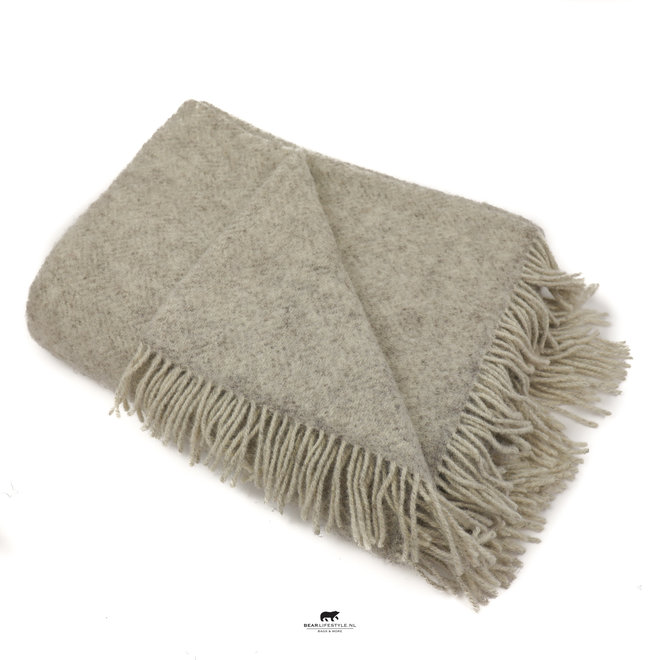 Plaid 100% pure eco wool Wit 132 x 190 CM