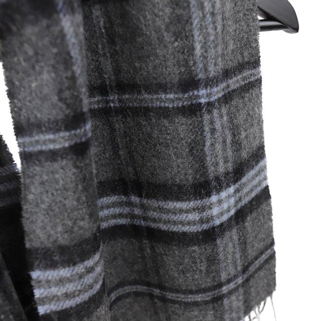 Schal Lammwolle 30 x 150 cm grau/schwarz