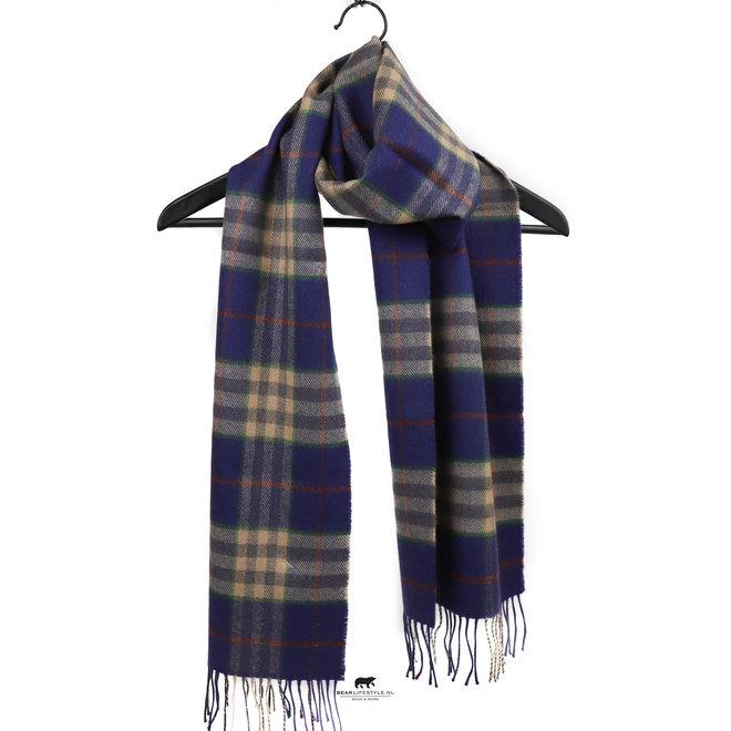 Sjaal Merino 30 x 180 cm Blauw/Groen