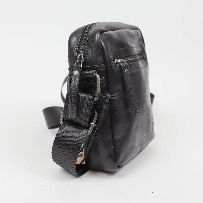 Klein schoudertasje 'Leonardo' Zwart CP 1847