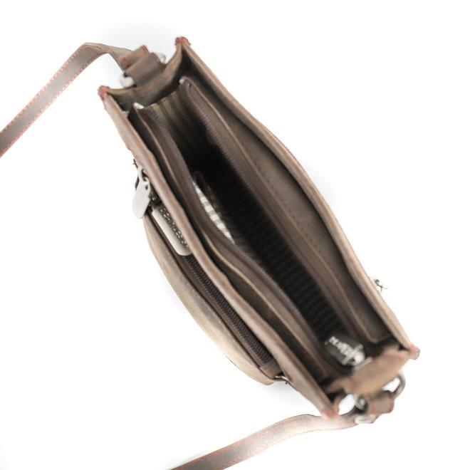 Schoudertasje 'Els' HD4170 Bruin