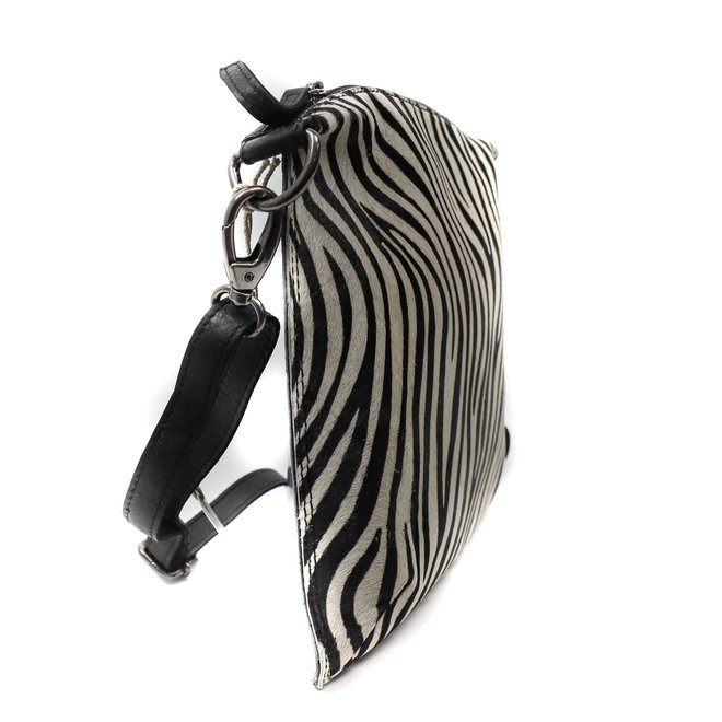 Schoudertasje 'Lydia' - Zebra Zwart HH 110