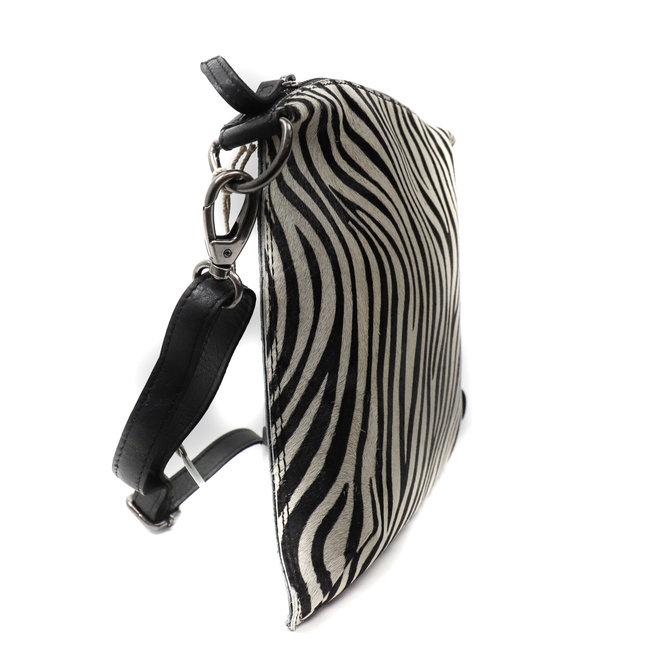 Schultertasche 'Lydia' - Zebra Schwarz HH 110