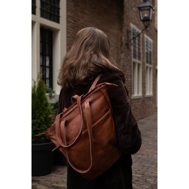 Shopper/Rugzak 'Lauryn' - CP 2025 Cognac