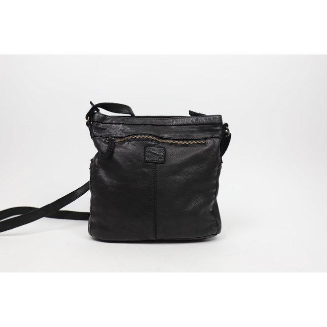 Praktische schoudertas 'Chessi' - Zwart CL35556