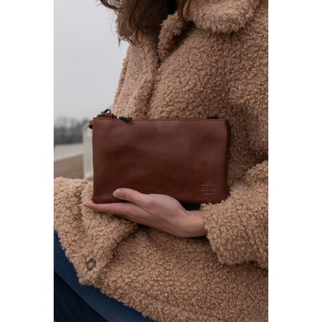 Geldbörse Tasche / Umhängetasche  Uma CP30996 Cognac