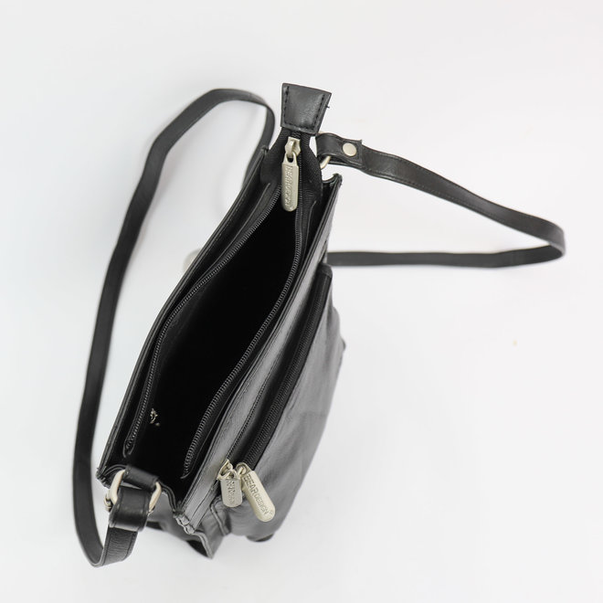 Schoudertasje 'Davita' B 3566 Zwart