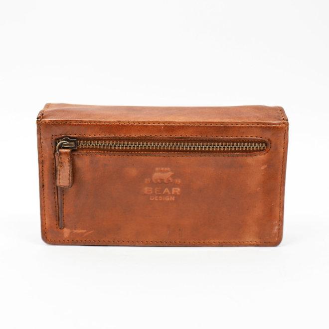 Klassieke overslag portemonnee 'Emma' - CL 782 Cognac RFID