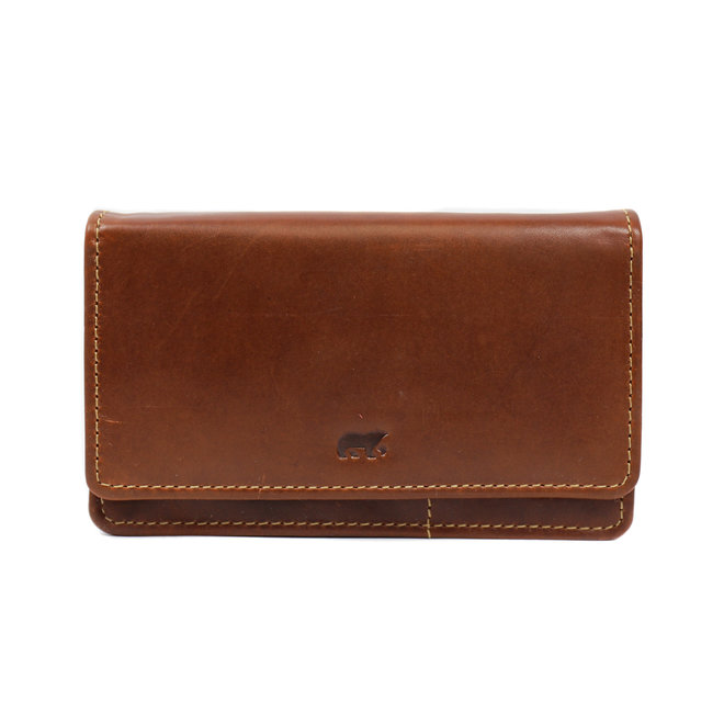 Damen Geldbörse RO782 Cognac