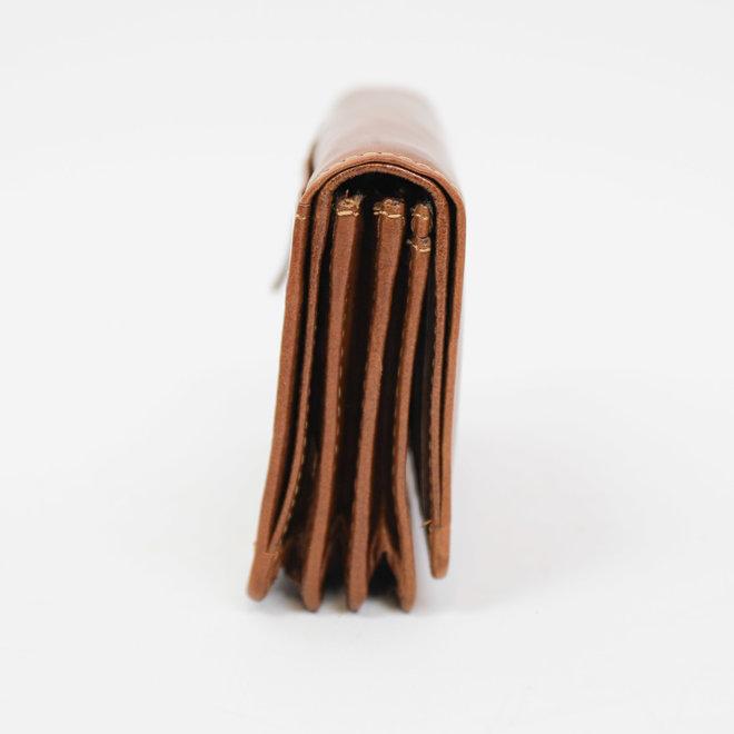 Kleine Damesportemonnee 'Nina' - Cognac RO 2080