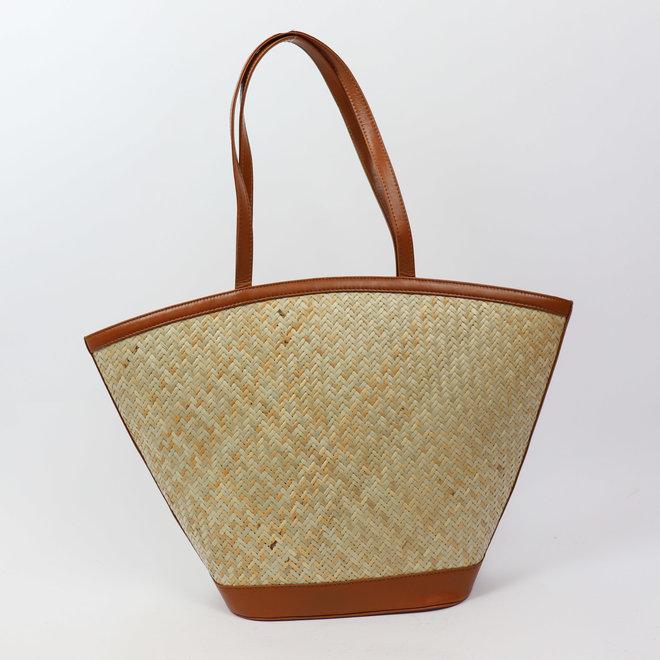 Shopper woven - Beige/Cognac Beach