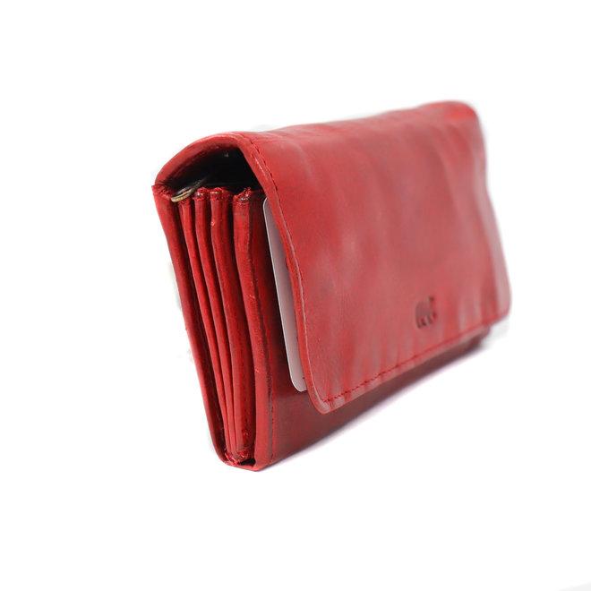 Damesportemonnee overslag  'Noor' - Rood CL 9918 RFID