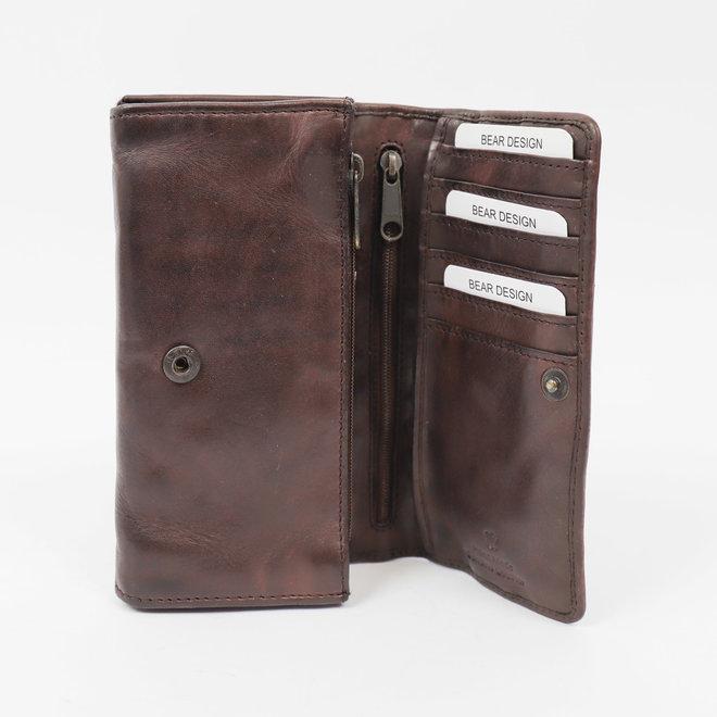 Geldbörse CL 9918 Braun - RFID/Anti skim