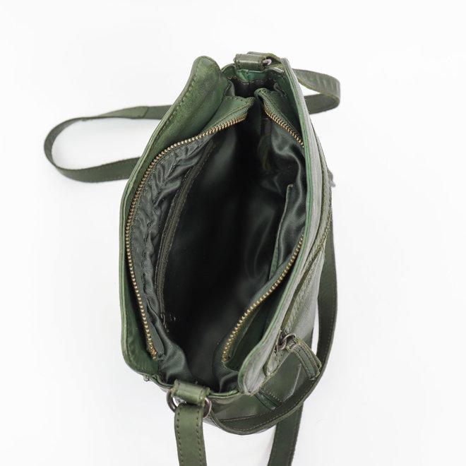 Klein schoudertasje CL35735 Olijf - 'Olivia'