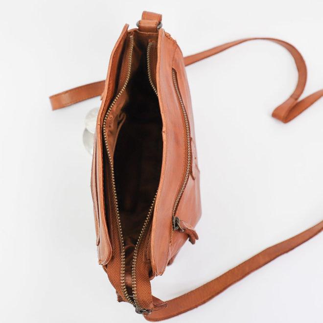 Klein schoudertasje CL35735 Cognac - 'Olivia'