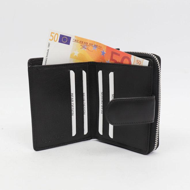 Trifold Ladies Wallet FR 2204 Schwarz