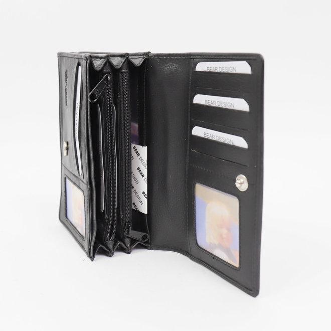 Basic overslag portemonnee 'Emma' - FR 782 Zwart