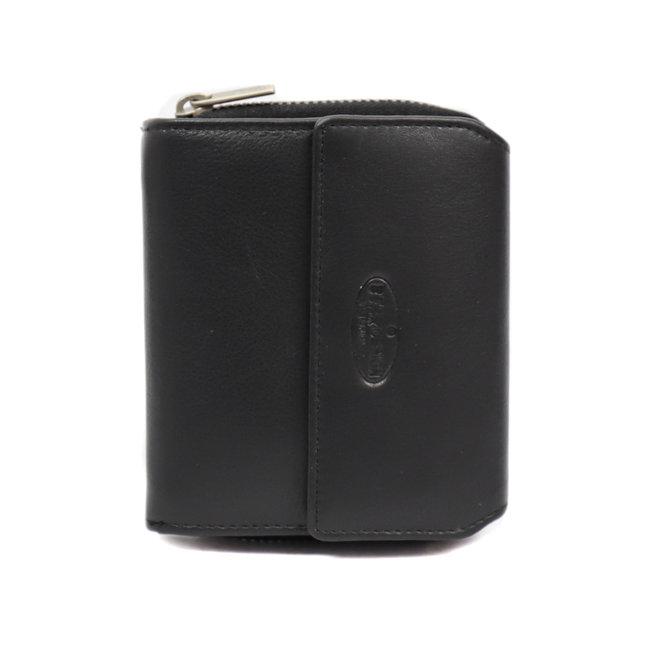 Kleine Ritsportemonnee 'Britt' - Zwart FR 9490