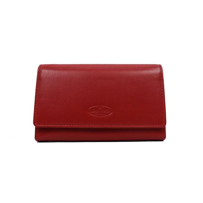 Dames portemonnee met knip - Rood FR 9925