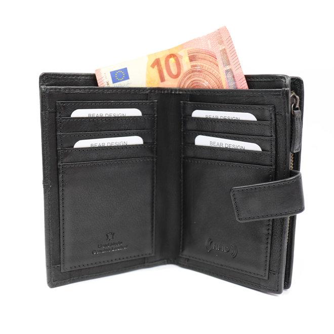 Ruime Dames portemonnee 'Sanne' - Zwart BL 15087
