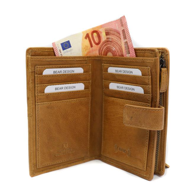 Ruime Dames portemonnee 'Sanne' - Geel BL 15087
