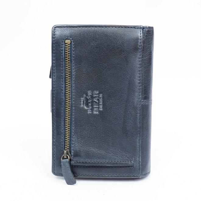 Geräumige Damenbrieftasche - Blau BL 15087