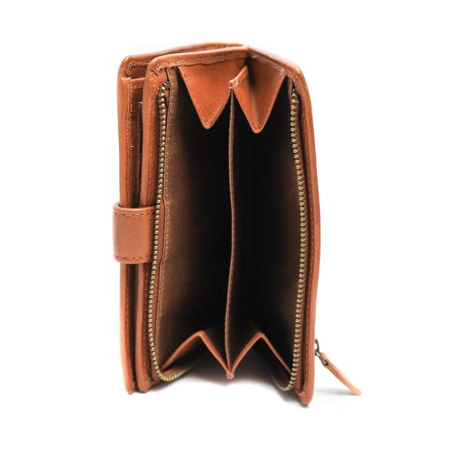 Ruime Dames portemonnee - Cognac BL 15087