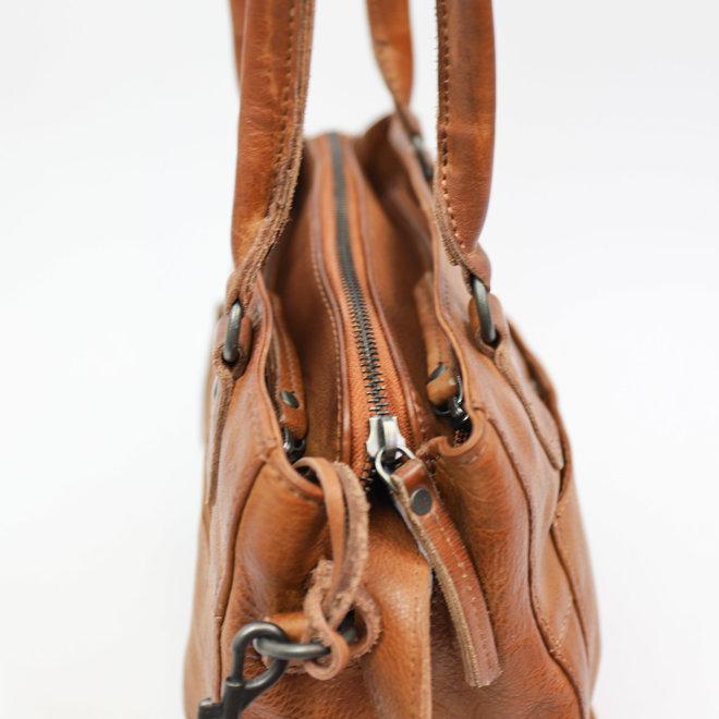 Klein Hand-/Schoudertasje 'Rita' - Cognac CP1201