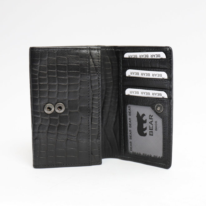 Kleine dames portemonnee - BBC 5066 Croco Zwart