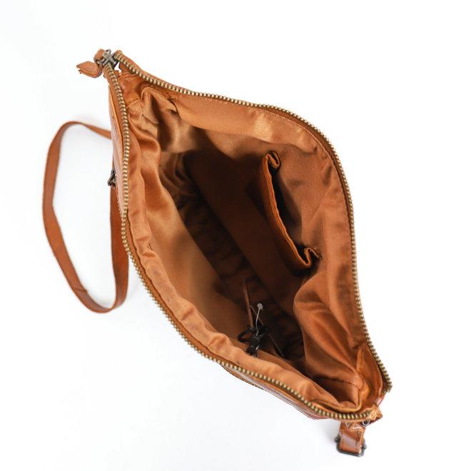 Schoudertasje Robin - Cognac CL36438