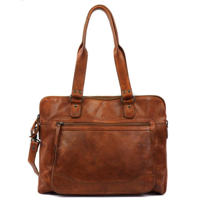 Handtasche 'Lia' Doppelreißverschluss - CL35220 Cognac