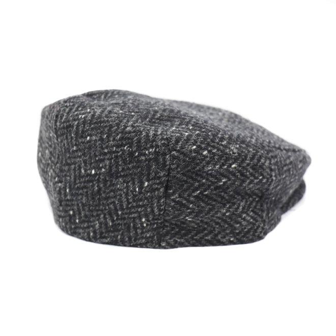 Flatcap Tweed - Zwart/Grijs (D 20)