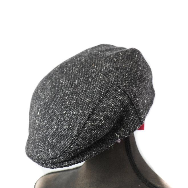 Flatcap Tweed - Grijs/zwart (D 30)
