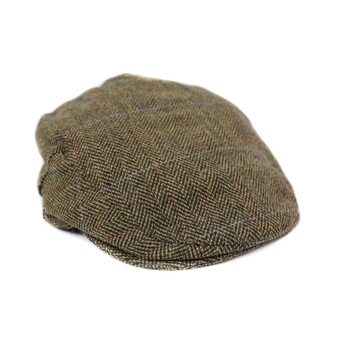 Flatcap Tweed - Bruin/beige (J 14)