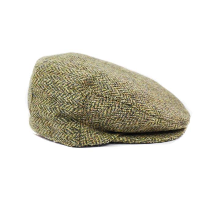 Flatcap Tweed - Groen/beige (J 05)