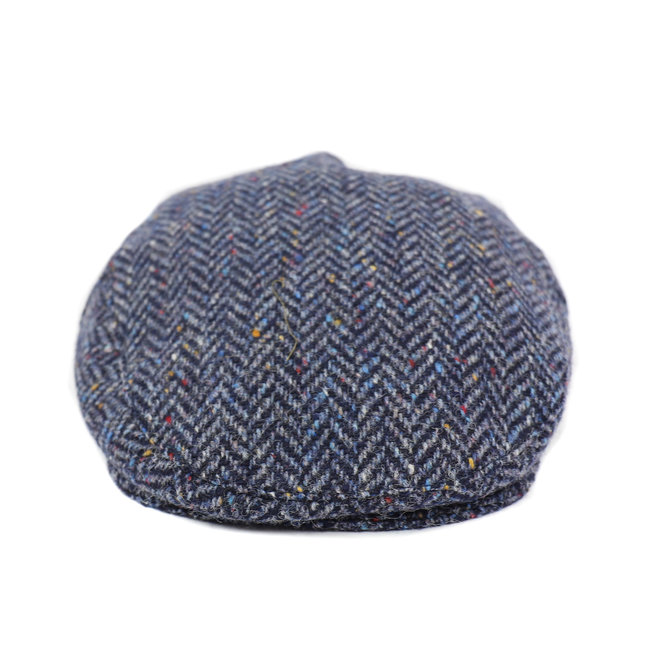 Flatcap tweed - Blauw (H 27)