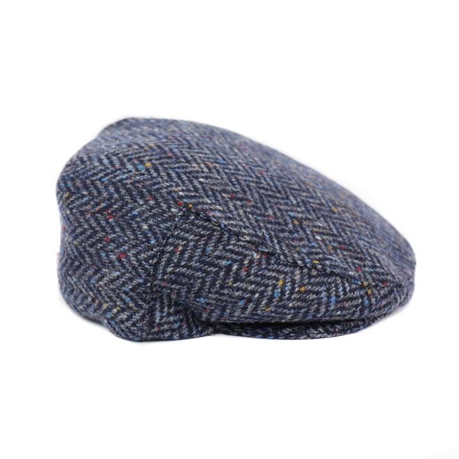 Flache Kappe Tweed - Blau (H 27)
